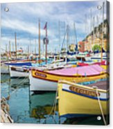 Le Fortune At Nice Harbor, France Acrylic Print