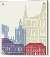Le Havre Skyline Poster Acrylic Print