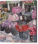Le Marche de Fleur Notre Dame Acrylic Print