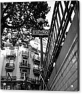 Le Metro From Below Acrylic Print by Kathy Yates