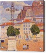 Le Puy The Sunny Plaza 1890 Acrylic Print