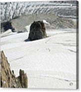 Le Rognon Glacier D'argentiere Vue Depuis L'aiguille Des Grands Montets Argentiere Haute Savoie Acrylic Print
