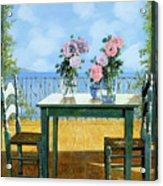 Le Rose E Il Balcone Acrylic Print