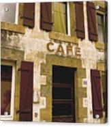 Le Vieux Cafe    The Old Cafe Bar Acrylic Print by Mark Hendrickson