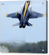 Lead Solo Pilot Of The Blue Angels Acrylic Print by Stocktrek Images