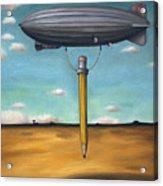 Lead Zeppelin Acrylic Print by Leah Saulnier The Painting Maniac