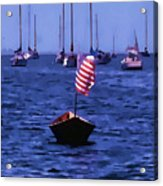 Leader Of The Pack- Bristol Rhode Island Oil Effect Acrylic Print