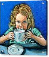 Leah Acrylic Print by Sheila Tajima