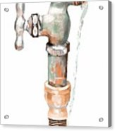 Leaky Faucet Acrylic Print