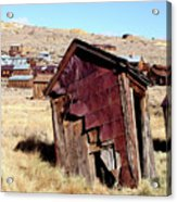 Leaning Bodie Outhouse Acrylic Print