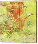 Leaning In Bicycle Acrylic Print