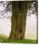 Leaning On The Cross Of Jesus Acrylic Print