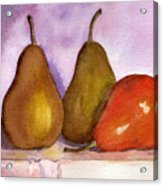 Leaning Pear Acrylic Print