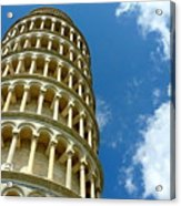Leaning Tower Acrylic Print