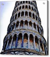 Leaning Tower Of Pisa In Tuscany, Italy Acrylic Print