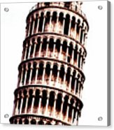 Leaning Tower Of Pisa  Sepia Digital Art Acrylic Print