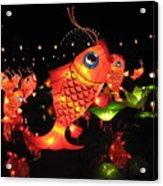 Leaping Goldfish Acrylic Print