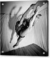 Leaping In Studio Acrylic Print
