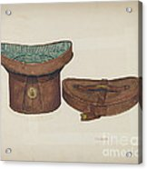 Leather Hat Box Acrylic Print