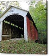 Leatherwood Station Covered Bridge Indiana Acrylic Print
