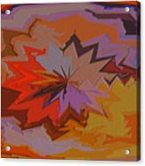 Leaves Abstract - Autumn Motif Acrylic Print