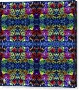 Leaves Batik Tiled Acrylic Print
