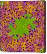 Leaves In Fractal 2 Acrylic Print
