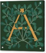 Leaves Letter A Acrylic Print