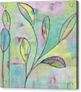 Leaves On Abstract Background Acrylic Print