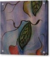 Leaves On Silk Acrylic Print