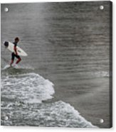 Leaving The Surf Acrylic Print