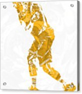 Lebron James Cleveland Cavaliers Pixel Art 13 Acrylic Print