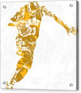 Lebron James Cleveland Cavaliers Pixel Art 14 Acrylic Print