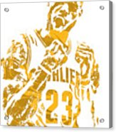 Lebron James Cleveland Cavaliers Pixel Art 9 Acrylic Print