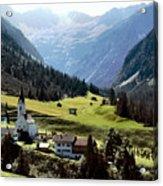 Lech Valley Village Acrylic Print