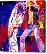 Led Zeppelin - Page And  Plant Acrylic Print by David Lloyd Glover