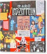 Led Zeppelin Color Collage Acrylic Print