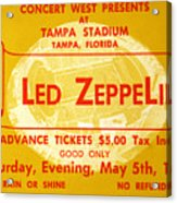 Led Zeppelin Ticket Acrylic Print