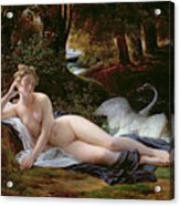 Leda And The Swan Acrylic Print by Francois Edouard Picot