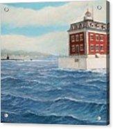 Ledge Lighthouse and submarine Acrylic Print