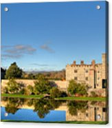 Leeds Castle And Moat Reflections Acrylic Print