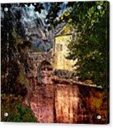 Leeds Castle Gatehouse And Moat Acrylic Print