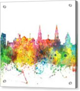 Leeds England Skyline Acrylic Print