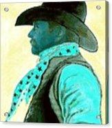 Left Facing Cowboy Acrylic Print