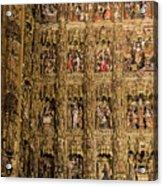 Left Half - The Golden Retablo Mayor - Cathedral Of Seville - Seville Spain Acrylic Print