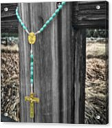 Left On The Fence Post Acrylic Print