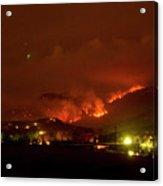 Lefthand Canyon Wildfire Boulder County Colorado 3-11-2011 Acrylic Print by James BO  Insogna