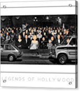 Legends Of Hollywood Poster Acrylic Print