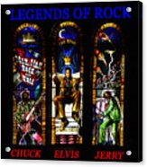 Legends Of Rock Acrylic Print