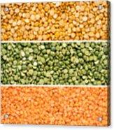Legumes Triptych Acrylic Print